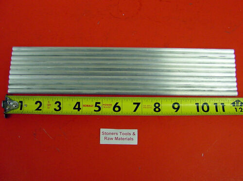 """10 pieces 1/4"""" ALUMINUM 6061 T6511 ROUND SOLID ROD 12"""" long .25"""" Lathe Stock"""