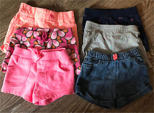 Girls shorts 12 months to 2T