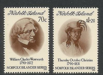Norfolk Island 1990 Island History--Attractive Topical (495-96) MNH