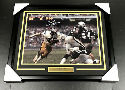 JOE GREENE SIGNED AUTOGRAPHED FRAMED 16X20 PHOTO JSA COA PITTSBURGH STEELERS  - Greene Autographed Photo