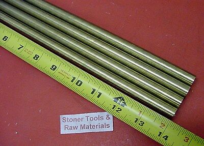4 Pieces 12 C360 Brass Solid Round Rod 14 Long New Lathe Bar Stock H02 .50