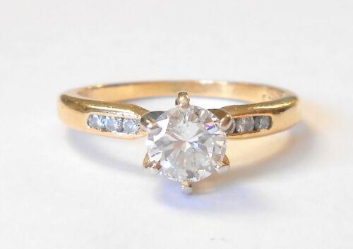 Vintage Jabel .50 Carat VS2 Diamond 18K Yellow Gold Engagement Ring Size 6