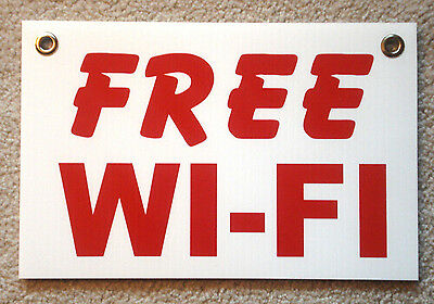 Free Wi-fi Coroplast Sign New 8 X 12 With Grommets