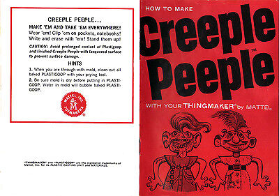 Mattel ThingMaker Creeple Peeple Copy of Manual / Booklet- PDF-Emailed To You