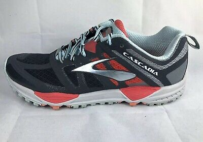 Brooks Cascadia Men's Size 8.5 Shoes Running Sneakers Gray Red Silver EU 40