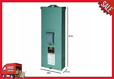 Square D 200 Amp Double Pole Main Circuit Breaker Panel Box Outdoor Disconnect