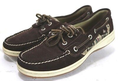 Sperry Top-Sider Blue Fish 2-Eye $89 Women's Boat Shoes Size 7 Leather Brown ()