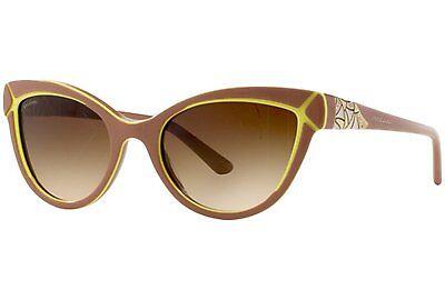 BVLGARI Sunglasses BV 8156 B 5355/13  Brown Yellow Frame New Italy Authentic