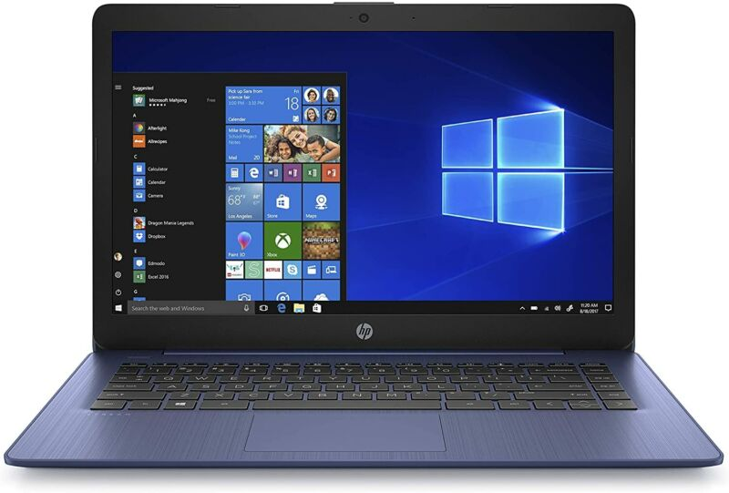 """HP 14-cb161wm Stream 14"""" HD Celeron N4000 1.1GHz 4GB RAM 32GB eMMC Win 10 Home"""