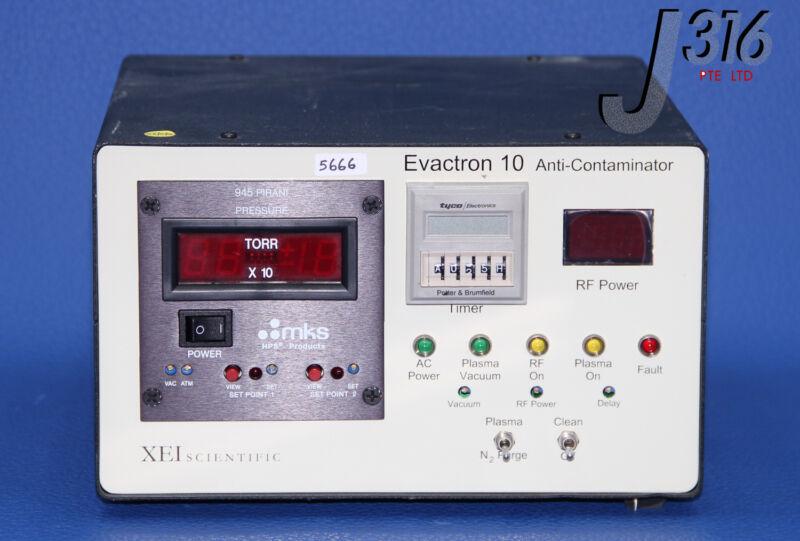 5666 XEI SCIENTIFIC RF PLASMA CLEANER DE-CONTAMINATOR EVACTRON 10
