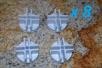 Plastic Mini Grid Cubicle Cubby Connectors White Lot Of 8 New