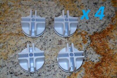 Plastic Mini Grid Cubicle Cubby Connectors White Lot Of 4 New