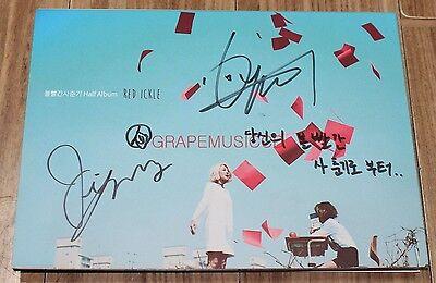 RED ICKLE Half Album K-POP REAL SIGNED AUTOGRAPHED PROMO CD #1