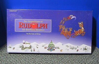 The original Rudolph the Red nosed reindeer game. 1995 GamePlan  Ex Cond! - Reindeer Game