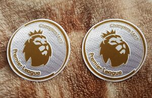 Chelsea fc Premier League football sleeve Badges Patches Gold️⚽ champions 16/17