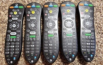(5) NEW AT&T U-Verse TV Remote Control, BLUE Backlight S30-S1A