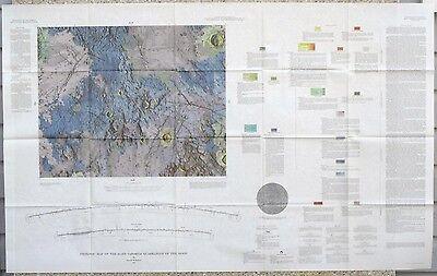 USGS APOLLO MARE VAPORUM REGION LUNAR GEOLOGIC MAP, Vintage 1968, I-548 Scarce
