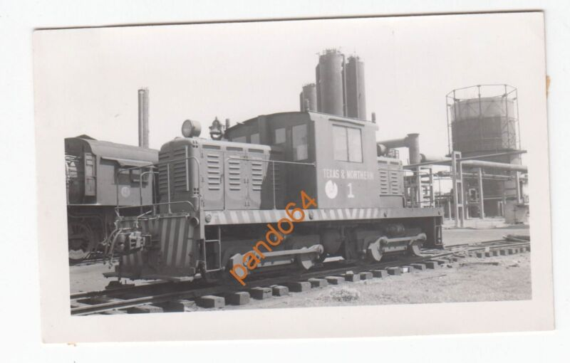 Original B&W Photograph TEXAS & NORTHERN #1 Yard Slug SWITCHER DIESEL TP07