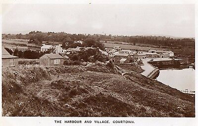 THE HARBOUR and VILLAGE COURTOWN CO. WEXFORD IRELAND RP IRISH POSTCARD