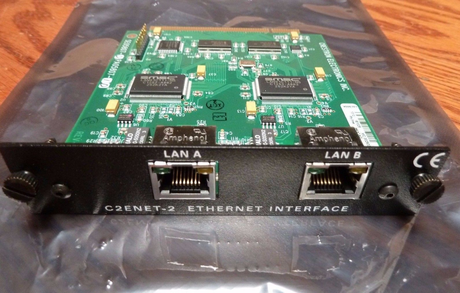 Crestron C2ENET-2 Dual Port Ethernet Card for PRO2 and AV2, Tested, Guarantee!!!