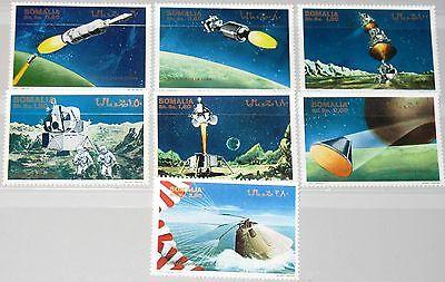 SOMALIA 1970 I-VII 7001-08 unissued set Space 1st Moon Landing Mondlandung MNH