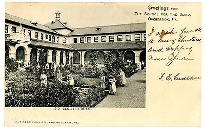 Overbrook PA - SCHOOL FOR THE BLIND - Postcard