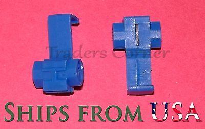 25pcs Blue Quick Locksnap On Splice Crimp Wire Electrical Cable Connectors