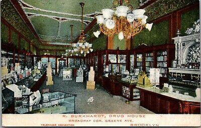 Brooklyn New York~R Burkhardt Drug House~Store Interior~Broadway @ (Broadway New York Store)