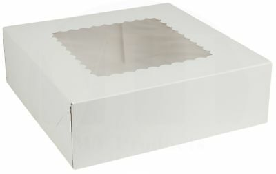 8 X 8 X 2 12 White Auto-popup Bakery Box By Mt Products - 15 Pieces