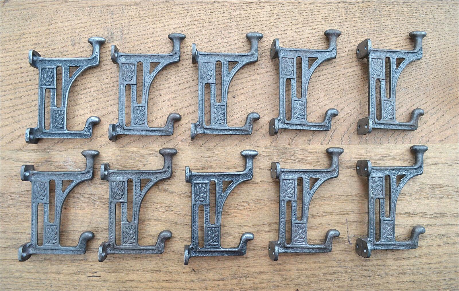 A set of 5 Arts /& Crafts Mackintosh Glasgow coathooks cast iron coat hook hanger