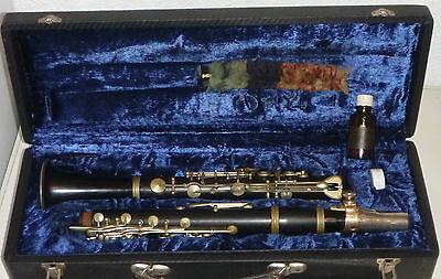 alte B Klarinette SONORA mit Koffer + Notenständer+Zubehör,Markneukirchen