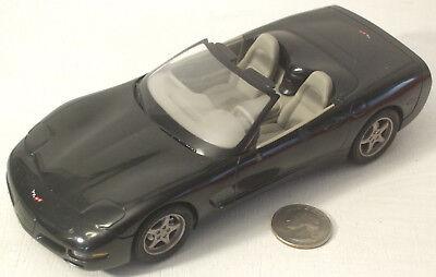 "Plastic Promo Car 1998 Chevrolet Corvette Convertible Black 7"""