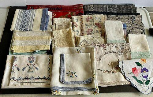 Lot of 35 Vintage Linens