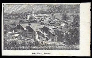 PRAZZO-VALLE-MACRA-CUNEO-XILOGRAFIA-LE-CENTO-CITTA-039-D-039-ITALIA-1893