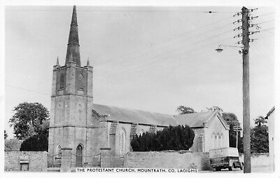 THE PROTESTANT CHURCH MOUNTRATH LAOIGHIS LAOIS IRELAND, RP POSTCARD  CARDALL LTD