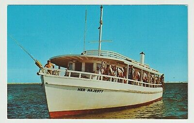 Unused Postcard Deep Sea Fishing Boat Her Majesty Destin Florida FL Deep Sea Fishing Boat