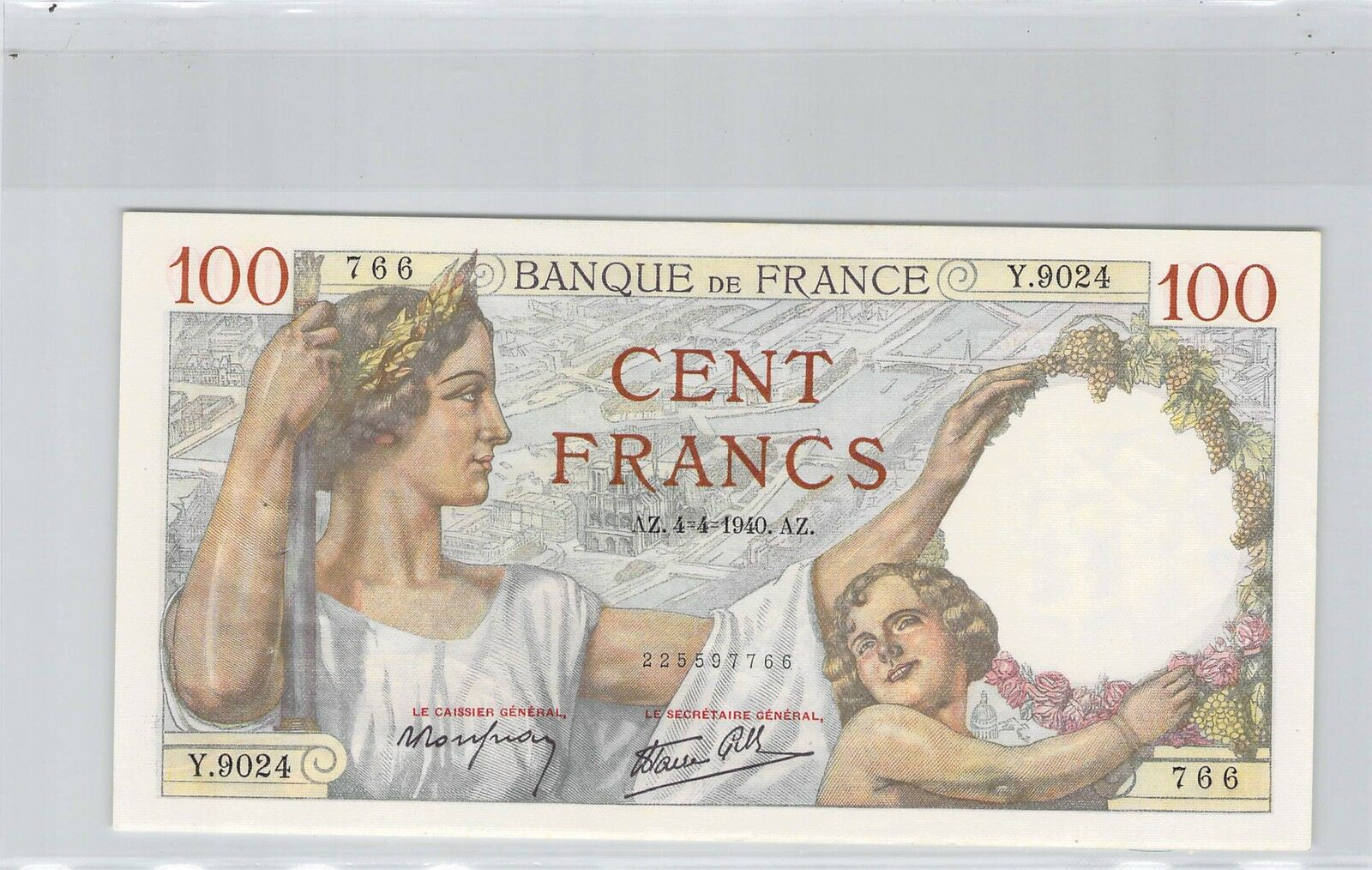 RECTO 100 francs Type 1939 Sully - None