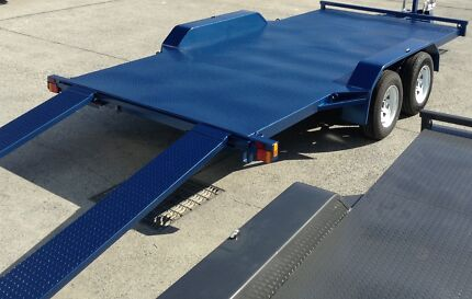 SPECIAL 15FT BEAVER TAIL CAR TRAILER WITH NEW TYRES & RIMS & RAMP Brisbane Region Preview