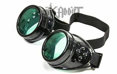Green Steampunk Crazy goggles Burning man festival costume Scientist  Halloween