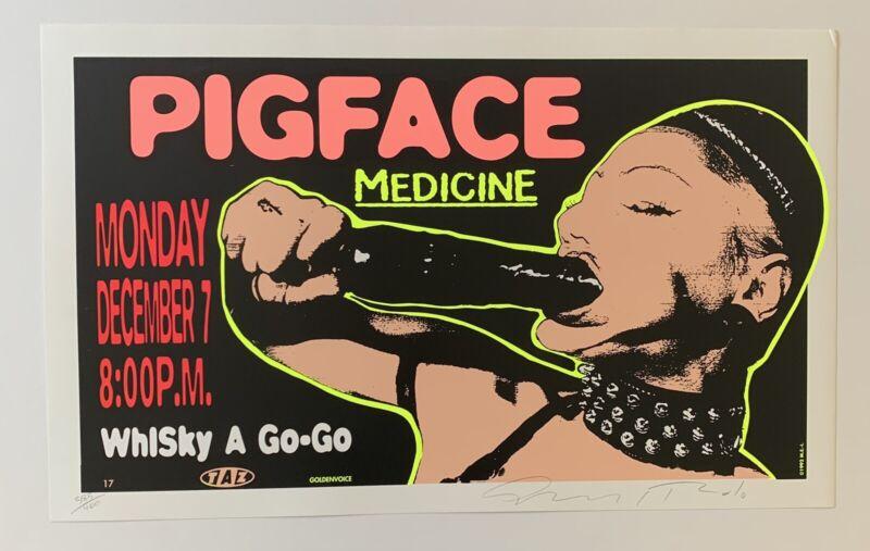 Taz Pigface Whiskey A Go-Go Original 1992 Concert Poster Signed
