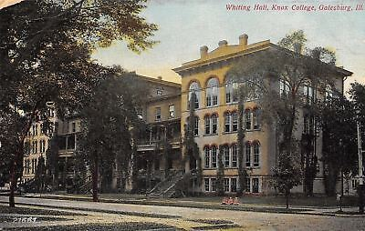 Galesburg Illinois Italianate Structure Whiting Hall Knox Colleg Postcard 1908