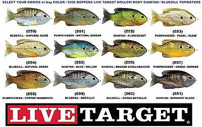 Koppers Live Target Sunfish Hollow Body Topwater Pumpkinseed Bluegill Sfh75t 90T