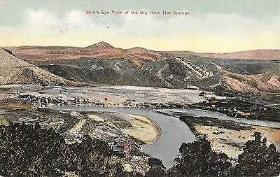 Wyoming Bird's Eye View of the Big Horn Hot Springs