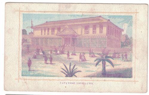 1876 Centennial Exhibition Card -- Japanese Dwelling