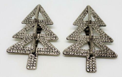 2 Vintage John Hardy Christmas Tree Scarf Clips