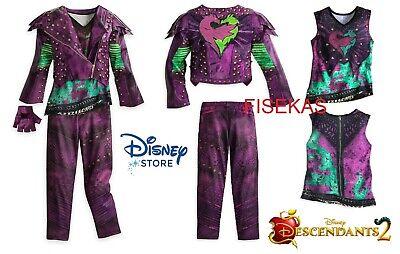 Disney Store Descendants 2 MAL Costume Dress Jacket Glove Kids Girl Size 13 NEW