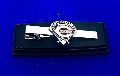Cincinnati Reds Tie Clip  Baseball Diamond Tie Bar Cincinnati Reds Tie Clasp NEW