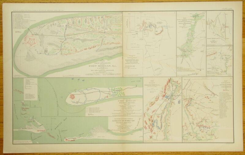 AUTHENTIC CIVIL WAR MAP~ ALABAMA-GEORGIA-MISSISSIPPI-VIRGINIA -1862-1864