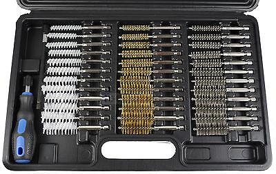 Rundbürsten-Set 38-tlg Bohr-Loch-Bürsten-Nylon-Messing-Stahl-Bürsten-Satz