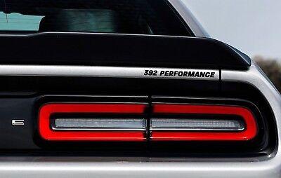 392 Performance Rear Badge Decal Dodge Challenger Charger HEMI SRT Hellcat Black